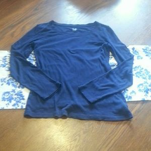 Super soft navy blue medium gap long sleeve